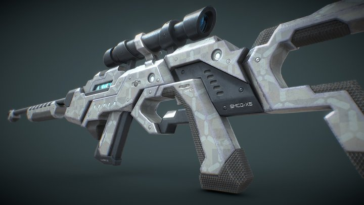 X5 Pulse Rifle 3D Model