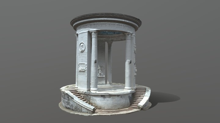 Rotunda in honor of Moscow anniversary 3D Model