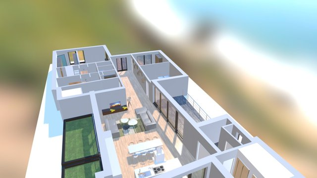 coupe appartement - mobile 3D Model