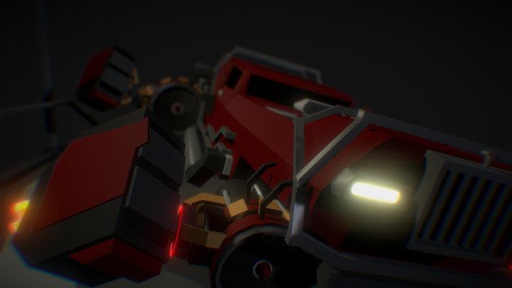Scarlet speedster 3D Model