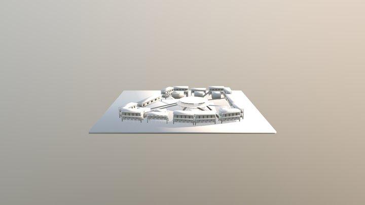 学生寮 3D Model