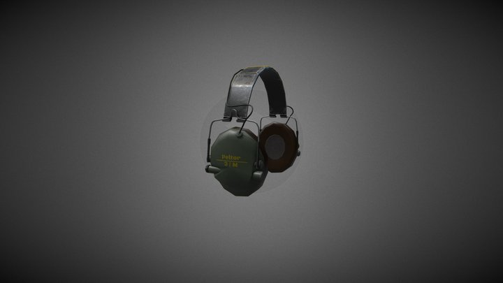 COMTAC - HEADSET - Game Ready 3D Model