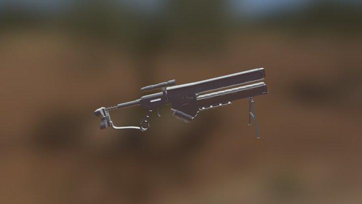 Makeshift Railgun 3D Model