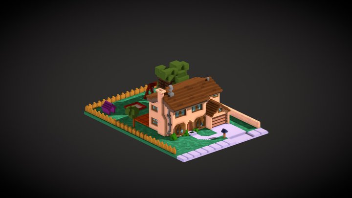 The Simpsons House 3D Model