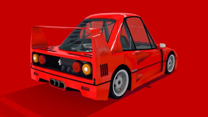 Cartoon Legendary Car - R40 3D Model