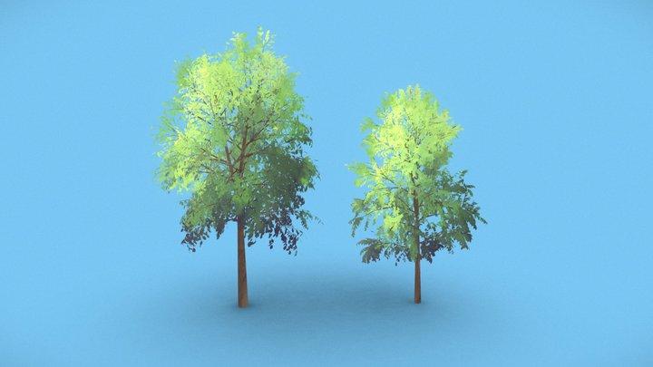 Anime Trees #3 3D Model