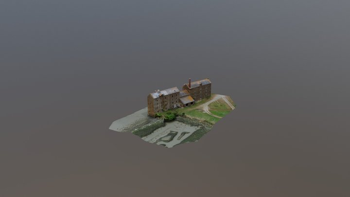 Moulin à marée de Quinard. 3D Model