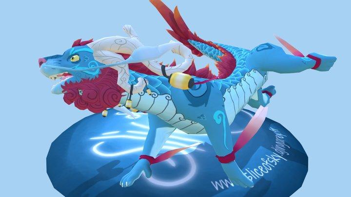 Slice of Sky Dragon (finished!) 3D Model