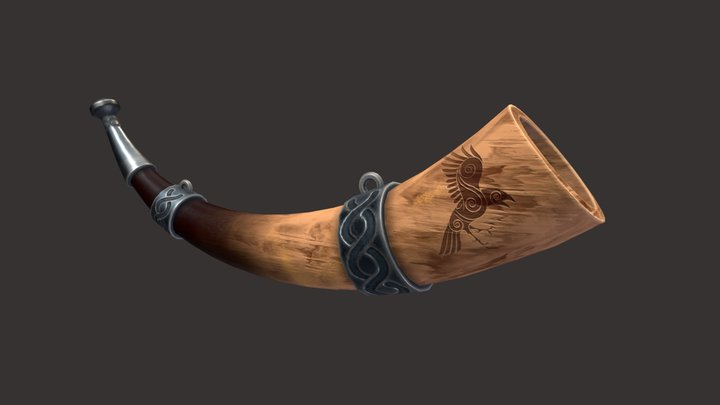Viking Horn Stylized 3D Model