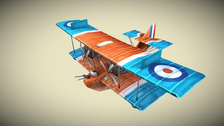 WW1 Plane Stylized - Felixstowe F.2A 3D Model