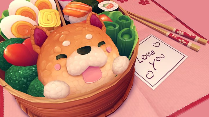 Bento for my sweetheart 3D Model