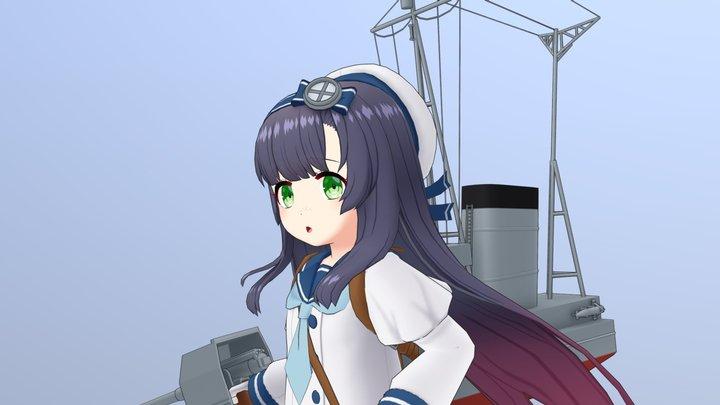艦これの松輪 3D Model