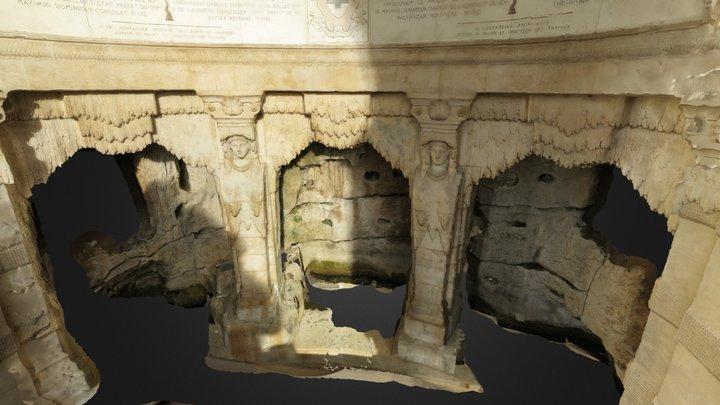 Fontaine Palais Longchamp Marseille 3D Model