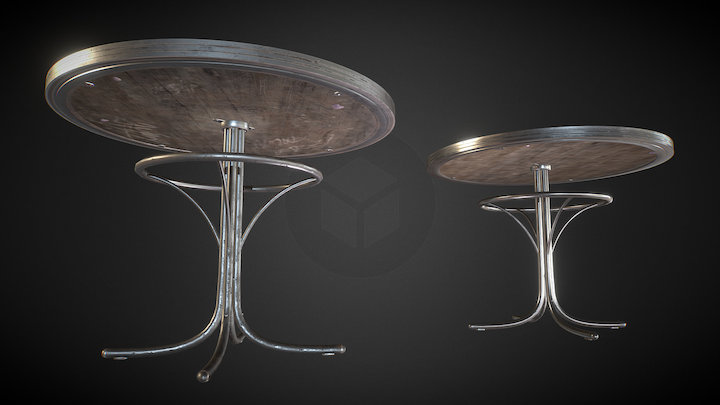 Retro Table - Old&Clean 3D Model