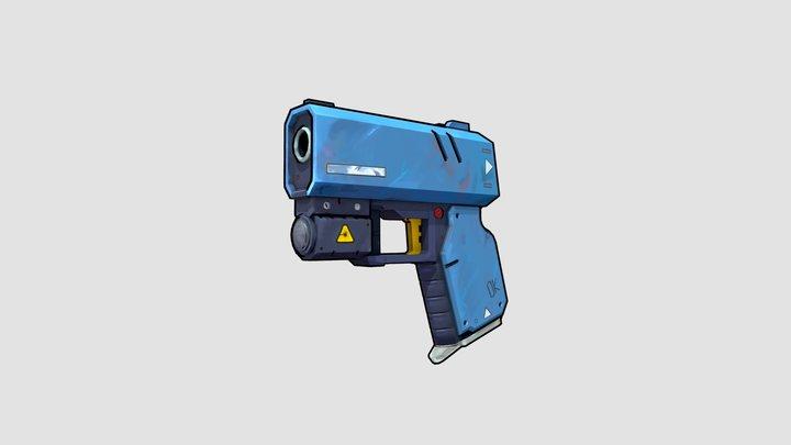 Compact personal defense gun 3D Model