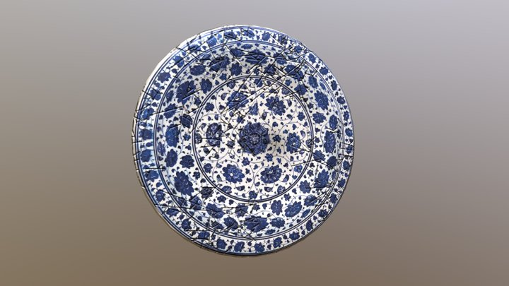 Qinghua Plate ( with cracks ) - Free Download 3D Model