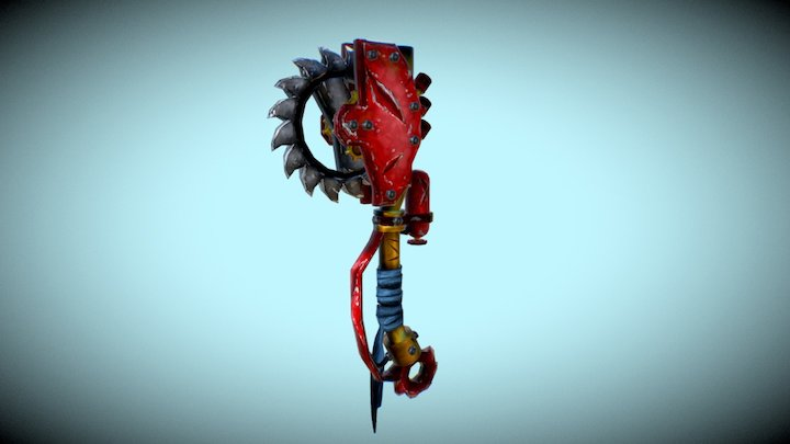 Weapon Saw_hand painted 3D Model
