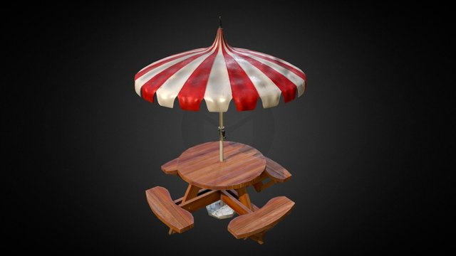 Barbecue table (GAU Modeling Challenge) 3D Model