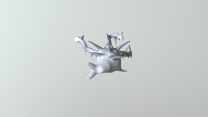 4 Amagedones - Humanos como monstruos 3D Model
