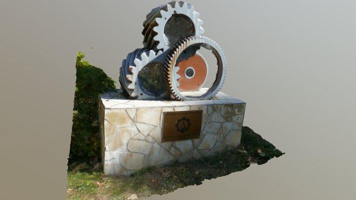 Miskolc Egyetemváros, Fogaskerekes dísz 3D Model