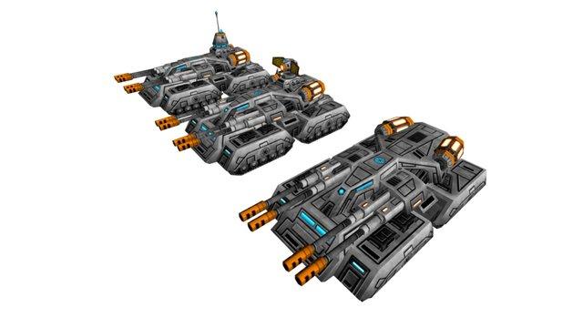 WEA Ares Tank 3D Model
