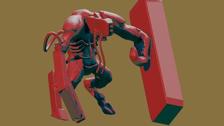 Ciborg test 2 blender 3D Model