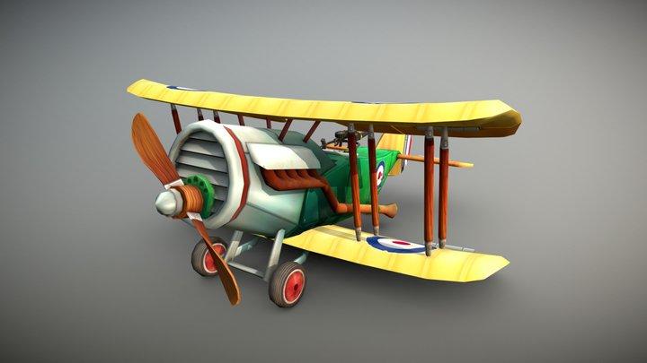 Stylized WWI Airplane - Bristol F.2B Fighter 3D Model