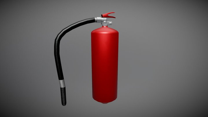 Extinguisher lowpoly 3D Model