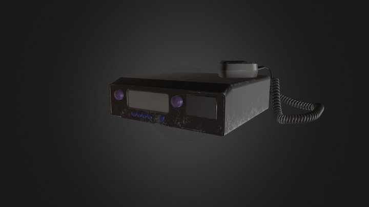 Old Radio Communicator 3D Model