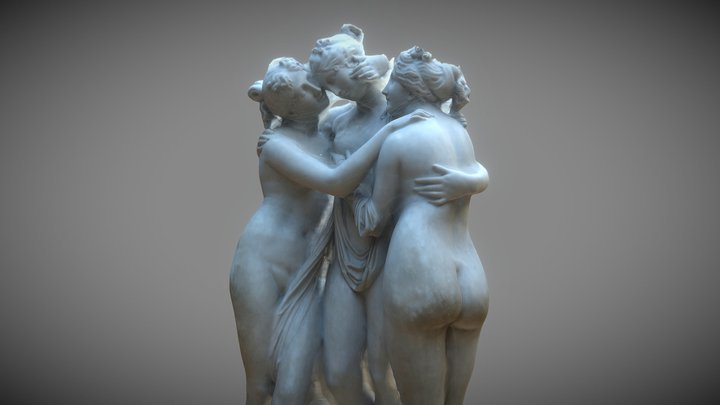 The Three Graces 3D Model