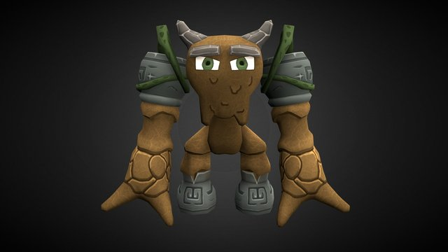 Mud Golem 3D Model