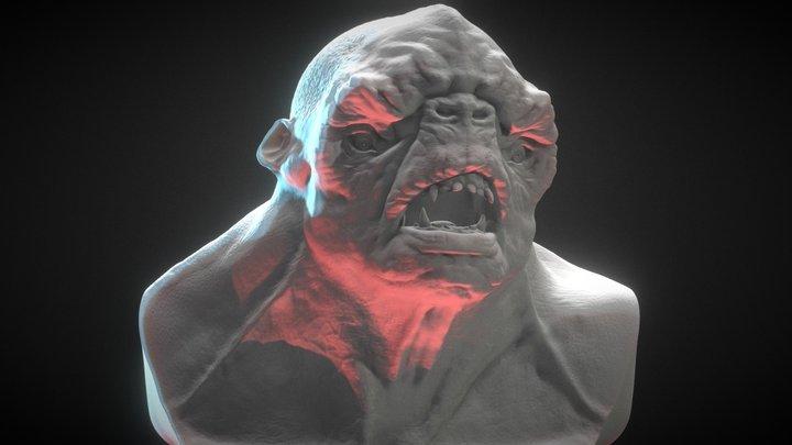 Troll Bust 3D Model