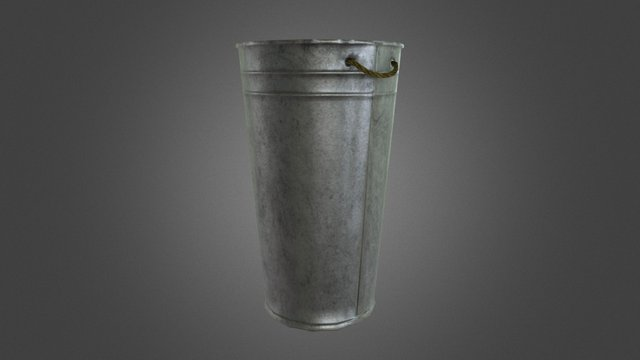 Galvanised Bin 3D Model