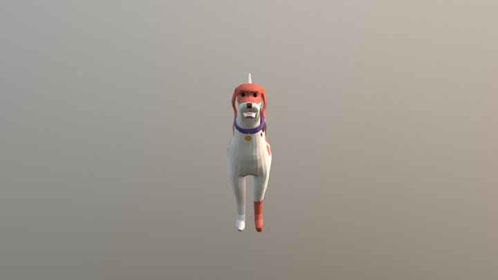 English Foxhound Jump 3D Model