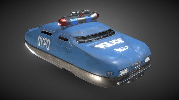 Fifth Element - Police Hoover Car 3D Model