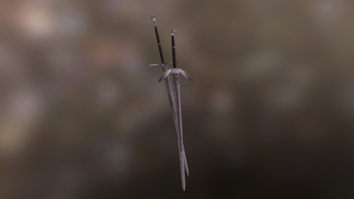 The witcher swords 3D Model