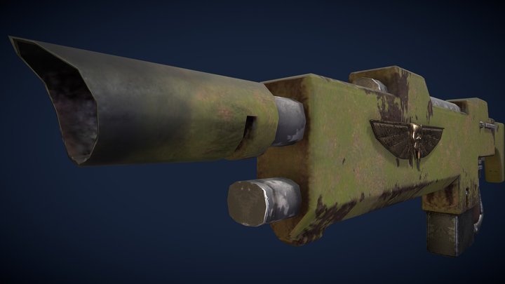 Imperial Guard Lasgun 3D Model