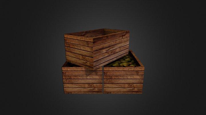 Fruit Crates 3D Model