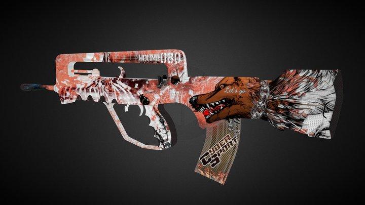 Hound|Famas 3D Model