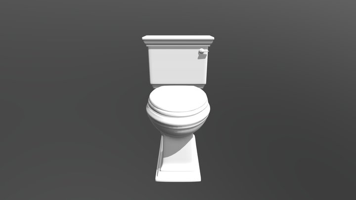 Memoirs Stately Close Coupled Toilet 3D Model