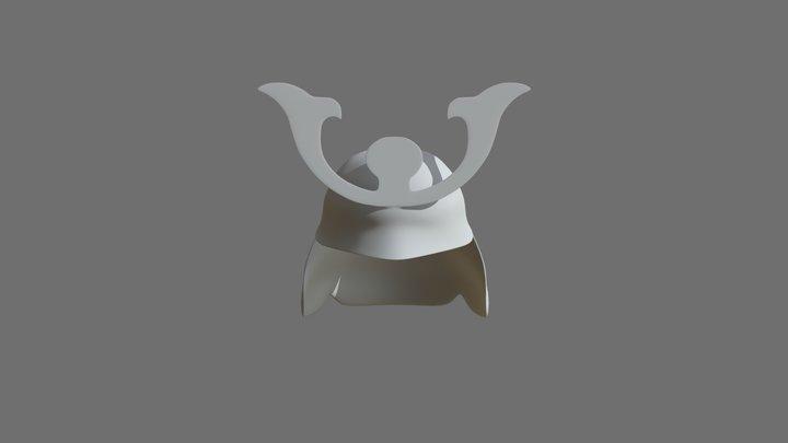Japanese helmet Highpoly - 01 3D Model