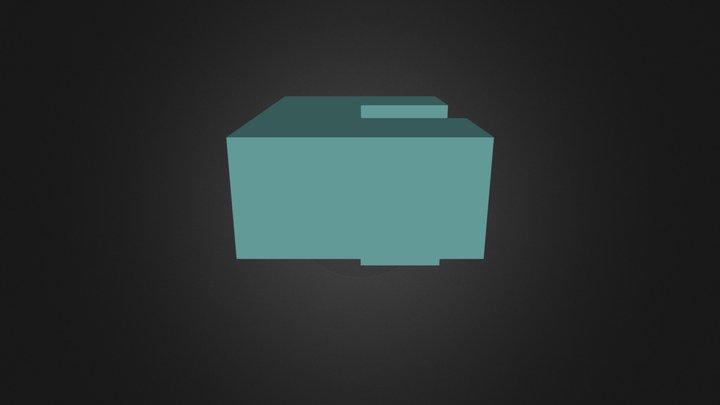 Green Puzzle Cube Part 3D Model