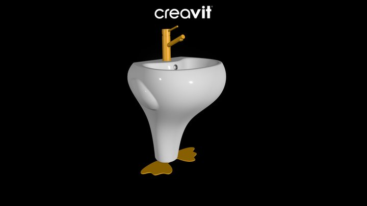 DC052 - Ducky Lavabo 3D Model