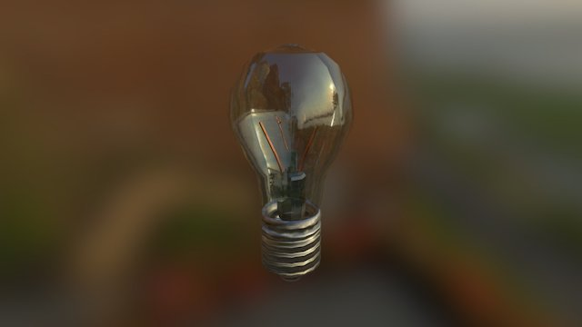 Light Bulb Texture test 3D Model
