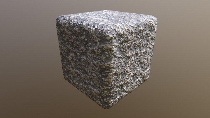 Tiled PBR material - Rock Mossy 3D Model