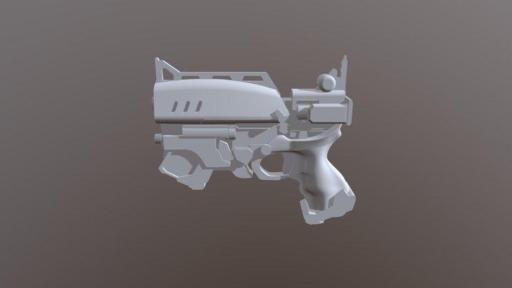 Gun Lowpoly 3D Model