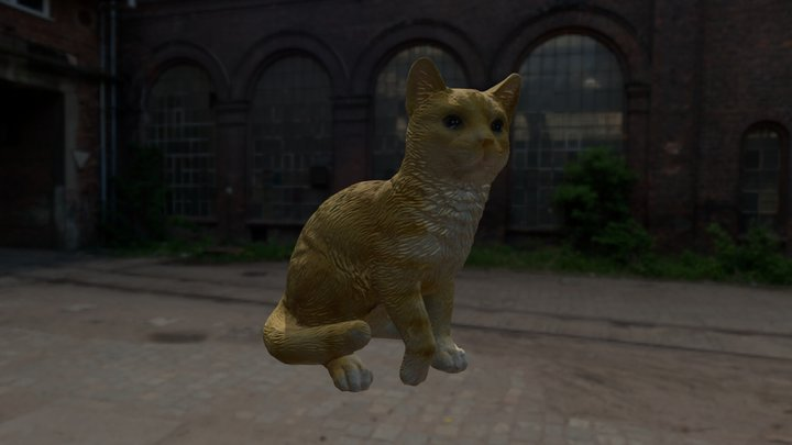 Katze_03   //   cat 3D Model