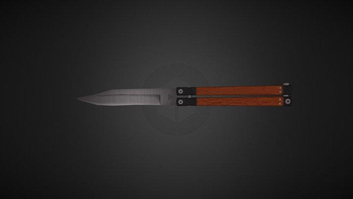 Butterfly Knife 3D Model