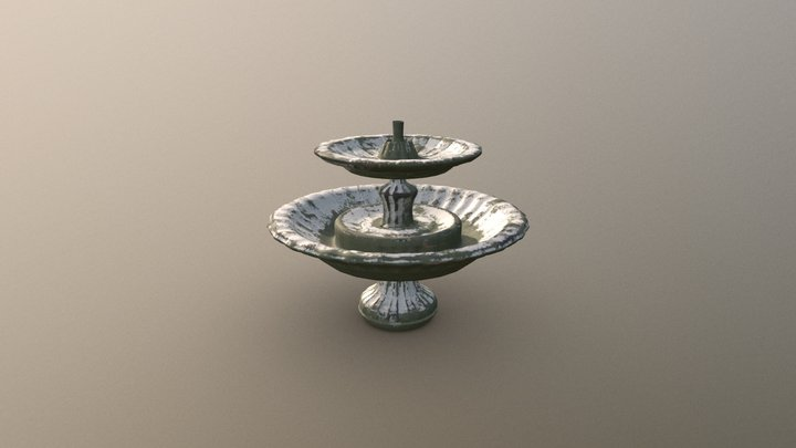 Old Fountain 3D Model