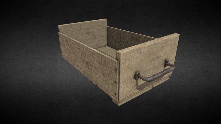 wooden garden crate wip 3D Model